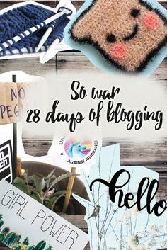 Rückblick: So war 28 days of blogging Challenge, 28 Days, Blogging, Crochet Hats, War, Knitting Hats