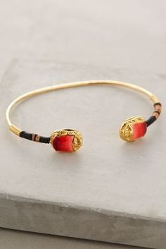 Gas Bijoux Scarab-Capped Cuff #AthroFave