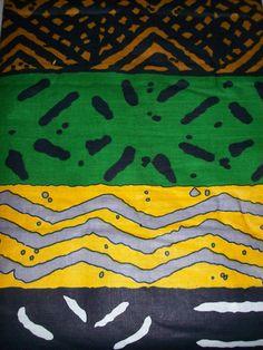 Mudcloth print African fabric per yard, multicolour tribal print