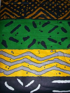 Mudcloth print African fabric per yard, multicolour tribal print
