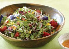 Microgreens with Strawberry-Lime Vinaigrette | Vegetarian Times