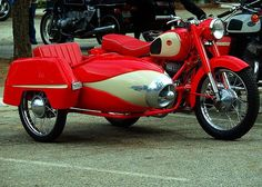 1968 Pannonia Motorcycle with Sidecar Motorbike With Sidecar, Motorcycle Wheels, Car Wheels, Vintage Bikes, Vintage Motorcycles, Cars Motorcycles, Vintage Cars, Scooters Vespa, Motor Scooters