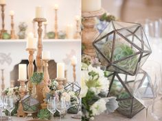geometric centerpiece ideas - photo by Amy and Jordan Photography http://ruffledblog.com/paradise-valley-wedding-inspiration