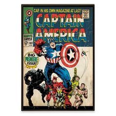 Captain America Marvel Comic Book Wall Art - buybuy BABY