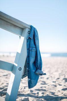 denim button ups & sand-filled days