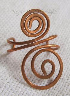 copper wire earcuffs