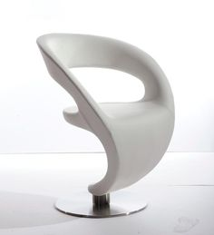 Modrest Alya Modern White Leatherette Lounge Chair