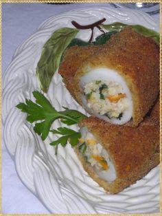 Seppie ripiene e croccanti (Stuffed squid and crispy)