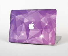 """The Vector Shiny Pink Crystal Pattern Skin Set for the Apple MacBook Pro 15"""" with Retina Display from Design Skinz"""