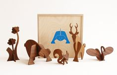 Moderne wooden animals are gorgeous and classic. $225