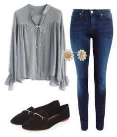 """""""Sem título #7685"""" by ana-sheeran-styles ❤ liked on Polyvore featuring Chicwish, Lee, Topshop and Monet"""