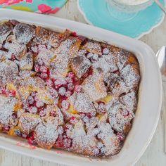 Cranberry Croissant Bread Pudding