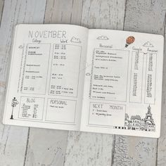 Monthly Log inspiration from planningroutine