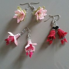 The Effective Pictures We Offer You About crochet earrings big A quality picture can tell you many things. Big Earrings, Crystal Earrings, Cat Necklace, Needle Lace, Lace Flowers, Beading Tutorials, Crochet Designs, Bead Weaving, Crochet Earrings