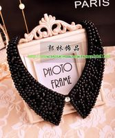 Free Shipping! 1pcs New 2014 Fashion Necklace For Women Black Crystal Round Beads False Collars,$7.00 / piece
