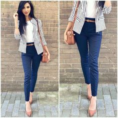 Business-Outfit 48 Modest Women Business Outfits for 2019 Summer Work Outfits, Casual Work Outfits, Blazer Outfits, Mode Outfits, Work Casual, Outfit Work, Casual Summer, Summer Fashions, Classy Casual