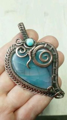 Wire Wrapped Pendant, Wire Wrapped Jewelry, Wire Jewelry, Jewlery, Handmade Copper, Handmade Jewelry, Gifts For An Artist, Wire Weaving, Jewelry Making Tutorials