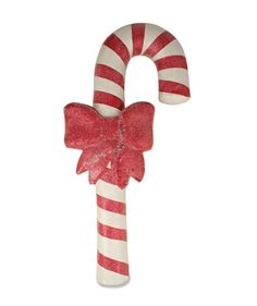 Paper Mache Candy Cane with Bow