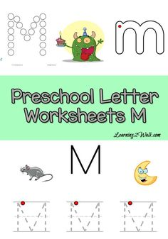 If your preschooler is working on writing the letter m, why not use these free preschool letter worksheets?