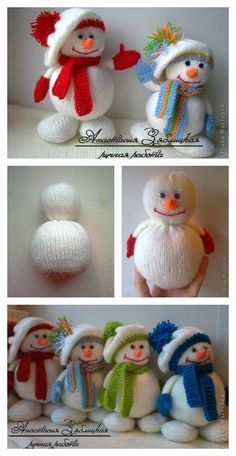 Knitting Snowman with Free Pattern