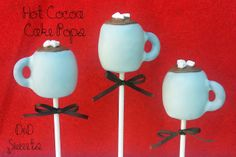 Pint Sized Baker: Hot Cocoa Cake Pops from D&D Sweets - tutorial Apple Cake Pops, Chocolate Cake Pops, Cocoa Cake, Hot Chocolate, Purple Wedding Cakes, Wedding Cakes With Flowers, Flower Cakes, Cake Wedding, Gold Wedding