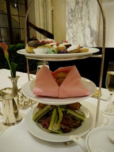 High Tea at the Palm Court inside the Plaza Hotel in New York
