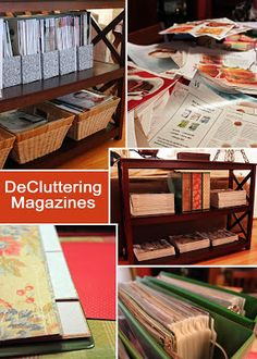 Purging magazines and organizing articles - this post will show you how I got rid of all my magazines and combined what I wanted to keep into three binders.