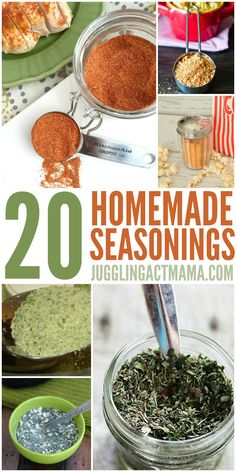 Homemade Seasoning Mixes - super easy and so delicious!