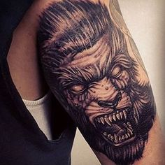 Sweet sweet werewolf from @dbar_tattoos