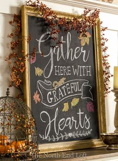 The North End Loft: Happy Thanksgiving<br> Thanksgiving Chalkboard, Fall Chalkboard, Chalkboard Doodles, Chalkboard Art Quotes, Blackboard Art, Chalkboard Lettering, Chalkboard Designs, Chalkboard Fridge, Chalkboard Drawings