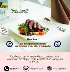 Reach Your customers Directly on #Instagram with #WeblineDigital #SEO, #SMO, #Digitalmarketing