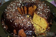 Receita de Bolo de cenoura com cobertura de chocolate em receitas de bolos, veja essa e outras receitas aqui!