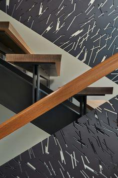 modern staircase   laser-cut steel banister   home decor