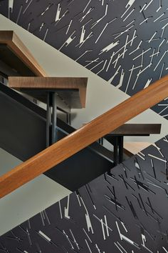 modern staircase | laser-cut steel banister | home decor