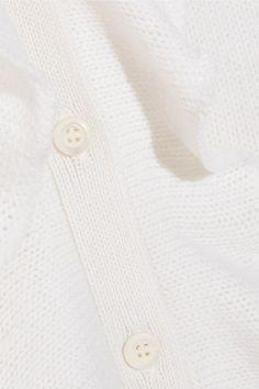 Prada - Ruffled Cashmere Cardigan - Cream - IT46