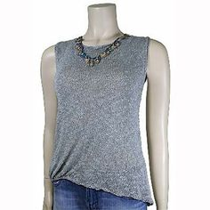 c2Knits Misty Tank knit in Berroco Seduce. Looking forward to spring!