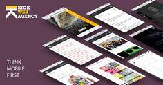 Kick Web agency - Think Mobile First http://www.kickagency.com/web/ #WEB #wordpress #socialmedia #business #blogging #app #website #webdesign #smm #seo #socialnetwork
