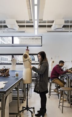 When the Parsons School of Fashion moved from their Midtown location closer to the rest of campus, we made plenty of room in our new University Center for students to work comfortably!