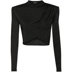 Cropped knitted top (6.600 BRL) ❤ liked on Polyvore featuring tops, shirts, crop top, crop, blusas, balmain, crop shirts, shirts & tops, balmain shirt and shirt crop top
