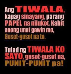 Y Filipino Quotes, Pinoy Quotes, Filipino Funny, Love Song Quotes, Love Quotes For Him, Sad Quotes, Words Quotes, Qoutes, Crush Quotes Tagalog