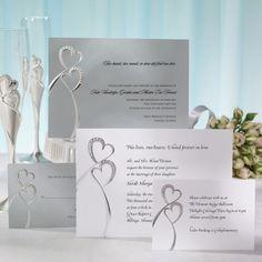 cool 11 double heart wedding invitations