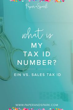 What exactly is your tax ID number? Learn the difference between an EIN and your sales tax ID, and whether you need either of these. Small Business Tax, Creative Business, Business Tips, Online Business, Business Coaching, Business Accounting, Finance Business, Starting An Etsy Business, Working Mom Tips