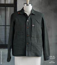 Vintage Linen Leger Work Jacket
