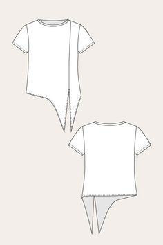 Selja Knot Tee - Named Source by pongenramok . - Selja Knot Tee – Named Source by pongenramok … - Fashion Sewing, Diy Fashion, Ideias Fashion, Fashion Trends, Fashion Outfits, Sewing Blouses, Sewing Shirts, Make Your Own Clothes, Diy Clothes