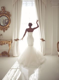 White Bridal Gown and Dressing Room