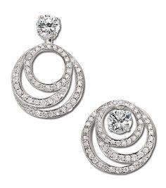 Solitaire Earrings, Diamond Earrings, Stud Earrings, Jacket Earrings, Diamond Stud, Diamond Jewellery, Diamond Earring Jackets, Silver Jewelry, Fine Jewelry