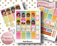 MAMBI HAPPY PLANNER // African American Set // Printable Planner Stickers // Sale Discount // African Tribal // PetitPlanner