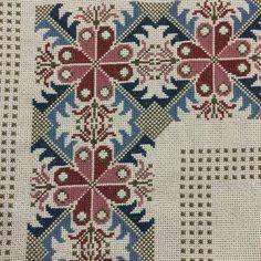 The border pattern Cross Stitch Borders, Cross Stitch Flowers, Cross Stitch Designs, Cross Stitching, Cross Stitch Patterns, Ribbon Embroidery, Cross Stitch Embroidery, Embroidery Patterns, Bordados Tambour