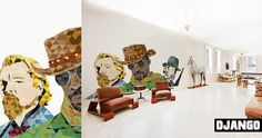 """Murals for the House, the idea created by Pixers group, entitled """"Cinematrographics"""","""