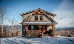 Yankee Barn Homes designs and builds post and beam barn houses. View our Moose Ridge small custom mountain lodge plans and let us build your custom lodge.